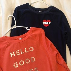Old Navy 2 Tops Small Lightweight 3/4 sleeve